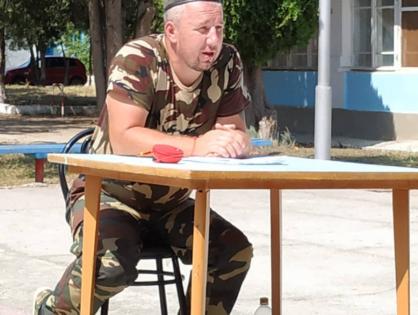 Начальник юнармейского отряда имени Степана Петровича Лысенко