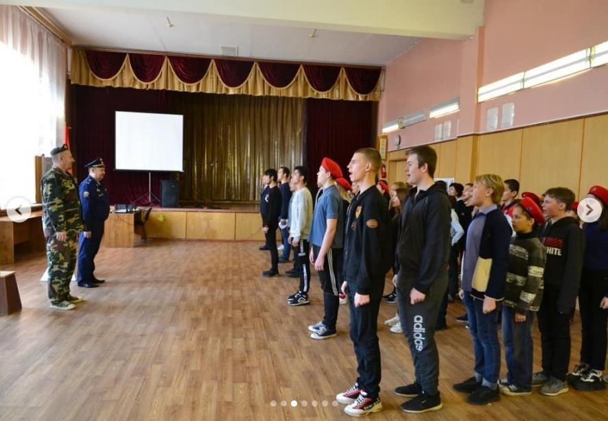 Открытие первой юнармейской спартакиады среди отряда им. С.П. Лысенко